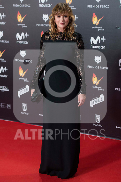 Emma Suarez attends red carpet of Feroz Awards 2018 at Magarinos Complex in Madrid, Spain. January 22, 2018. (ALTERPHOTOS/Borja B.Hojas)
