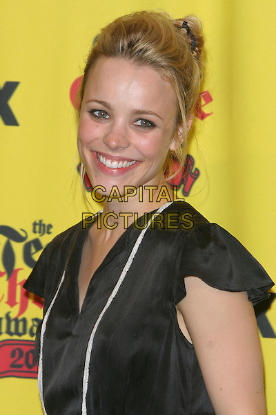 RACHEL MCADAMS.Teen Choice Awards,.The Gibson Amphitheatre,.Universal City, 14th August 2005.portrait headshot black short dress white stripe v-neck  MacAdams.www.capitalpictures.com.sales@capitalpictures.com.© Capital Pictures.