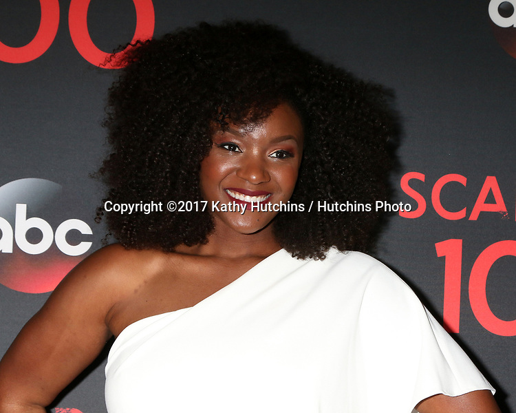 "LOS ANGELES - APR 8:  Saycon Sengbloh at the ""Scandal"" 100th Show Party at Fig & Olive Resturant on April 8, 2017 in West Hollywood, CA"
