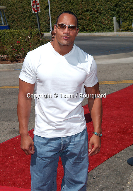 Dwayne Johnson arrives at the Teen Choice Awards 2002 held at the Universal Amphitheatre in Los Angeles, Ca., August 4, 2002.           -            JohnsonDwayne_Rock03.jpg