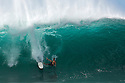 Makua Rothman wiping out at Pipeline on the North Shore in Hawaii