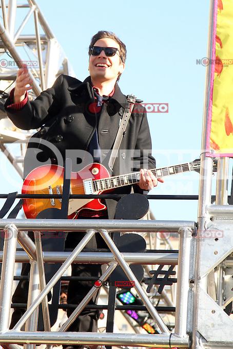 NEW YORK, NY - NOVEMBER 22: Jimmy Fallon at the 86th Annual Macy's Thanksgiving Day Parade on November 22, 2012 in New York City. Credit: RW/MediaPunch Inc. /NortePhoto