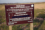 Site of Special Scientific Interest sign, Shingle Street, Suffolk, England