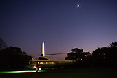 Marine One, with United States President Donald J. Trump aboard, departs the South Lawn of the White House in Washington, DC en route to New York, New York on Saturday, November 2, 2019. <br /> Credit: Erin Scott / Pool via CNP