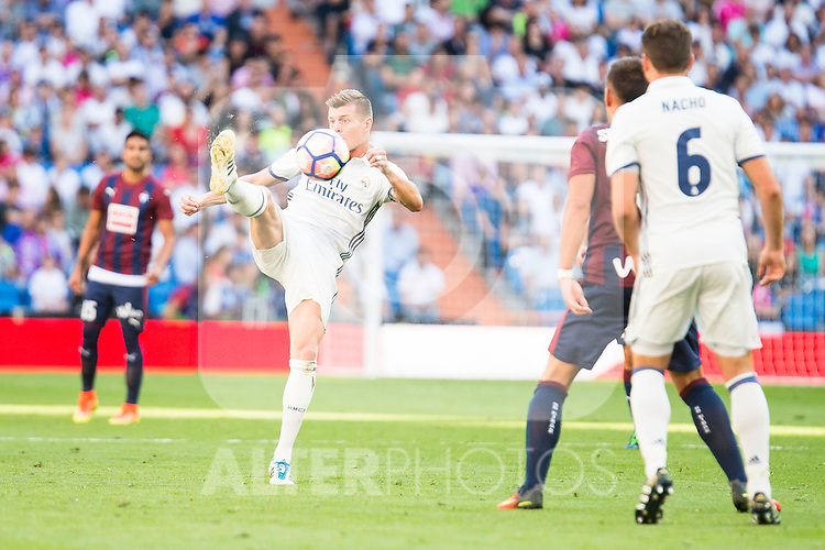 Real Madrid's player Toni Kroos and Nacho Fernandez  during a match of La Liga Santander at Santiago Bernabeu Stadium in Madrid. October 02, Spain. 2016. (ALTERPHOTOS/BorjaB.Hojas)