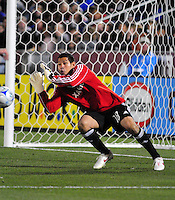 25 October 08: Real Salt Lake goalkeeper Nick Rimando during play against Rapids. Real Salt Lake tied the Colorado Rapids at Dick's Sporting Goods Park in Commerce City, Colorado. The tie advanced Real Salt Lake to the playoffs.