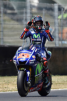 SCARPERIA,FLORENCE, ITALY - JUNE 03:,2017 Maverick Vinales of Spain and Movistar Yamaha MotoGP in action during Qualifying MotoGP Gran Premio d'Italia- at Mugello Circuit. on june 03, 2017 in Scarperia Italy.<br /> Photo Marco Iorio/Insidefoto