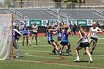 San Diego, CA 05/21/11 - Caroline Boucher (Torrey Pines #11), Allison Proehl (Rancho Bernardo #3), Kyla Roessler (Rancho Bernardo #2), Anna Knowles (Torrey Pines #8) and Molly Barrow (Rancho Bernardo #7) in action during the 2011 CIF San Diego Section Division 1 Championship game between Rancho Bernardo and Torrey Pines.
