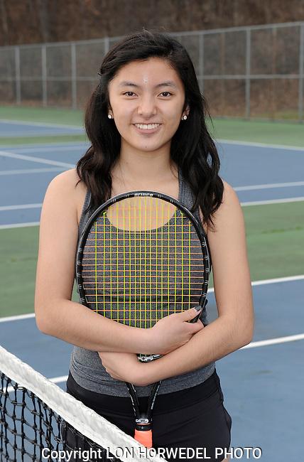 Huron High School girl's varsity tennis team.