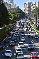 SÃO PAULO,SP - 07.06.2017 - TRANSITO-SP - Vista do trânsito da Avenida 23 de maio, na altura do Viaduto Tutóia, zona sul de São Paulo, na tarde desta quarta-feira, 07 (Foto: Eduardo Carmim/Brazil Photo Press)