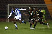 Frank Nouble of Colchester United and Sessi D'Almeida of Yeovil Town during Colchester United vs Yeovil Town, Sky Bet EFL League 2 Football at the JobServe Community Stadium on 2nd October 2018