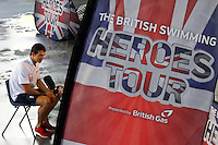 PICTURE BY ALEX WHITEHEAD/SWPIX.COM - Swimming - British Swimming Heroes Tour 2012 - Coventry Sport & Leisure Centre, Coventry, England - 17/09/12 - Heroes Tour Banner, Michael Jamieson is interviewed.