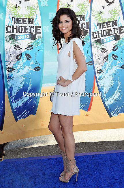 Selena Gomez<br /> Teen Choice Awards 2010 at the Gibson Amphitheatre In Los Angeles.