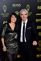 Estelle Denis et Raymond Domenech<br /> Parigi 02-12-2019 <br /> Calcio <br /> Pallone D'oro 2019 <br /> Golden Ball 2019 <br /> Ballon d'or 2019 <br /> Foto JB Autissier / Panoramic / Insidefoto
