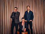 "Actors Steve Carell (left to right), Finn Wittrock, and Ryan Gosling star in the upcoming film ""The ""Big Short. They pose for a portrait at The Four Seasons in Beverly Hills, California November 14, 2015. / Photo by Brinson+Banks"