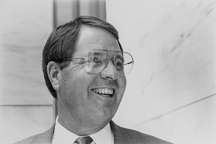 Sen. Steve Symms, R-Idaho, on July 19, 1991. (Photo by Maureen Keating/ CQ Roll Call)