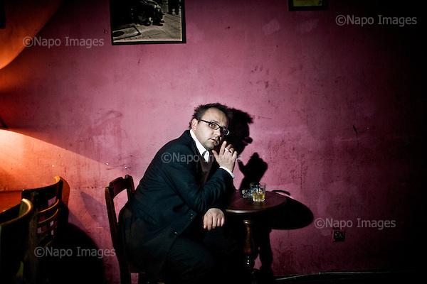 Warsaw 27.10.2010 Poland<br /> Robert Ziebinski, journalist, writer and publicist.<br /> Photo: Adam Lach / Newsweek Polska / Napo Images<br /> <br /> Robert Ziebinski, dziennikarz, pisarz i publicysta.<br /> Photo: Adam Lach / Newsweek Polska / Napo Images<br /> <br /> !!!!UWAGA RESTRYKCJE!!!!!<br /> Zdjecie moze byc uzyte w prasie gdy sposob jego wykorzystania oraz podpis nie obrazaja osob znajdujacych sie na fotografii!!!
