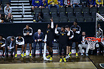 SIOUX FALLS, SD - MARCH 7: The IPFW Mastodons bench celebrates early in the first half against the South Dakota State Jackrabbits at the 2020 Summit League Basketball Championship in Sioux Falls, SD. (Photo by Miranda Sampson/Inertia)