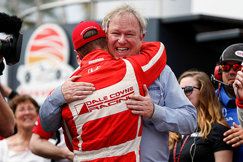 2017 Verizon IndyCar Series - Firestone Grand Prix of St. Petersburg<br /> St. Petersburg, FL USA<br /> Sunday 12 March 2017<br /> Sebastien Bourdais and Dale Coyne celebrating in victory lane<br /> World Copyright:Sam Cobb/LAT Images