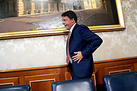 Matteo Renzi<br /> Rome August 13th 2019. Senate. Press conference of the former premier Matteo Renzi to talk about the Government crisis<br /> Foto Samantha Zucchi Insidefoto