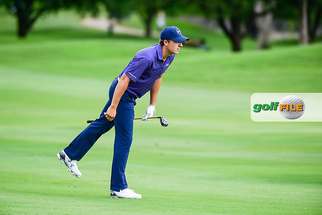 Jordan Spieth (USA) gives his second shot on 6 some body language during the round 1 of  the AT&amp;T Byron Nelson, TPC Four Seasons, Irving, Texas, USA. 5/19/2016.<br /> Picture: Golffile | Ken Murray<br /> <br /> <br /> All photo usage must carry mandatory copyright credit (&copy; Golffile | Ken Murray)