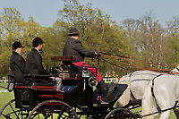 Close up of driver in the yearly international Horse carriage competition, taking place in Kladruby n. Labem, The Czech Republic, Europe.