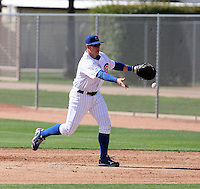 Bryan LaHair. Chicago Cubs spring training workouts at Fitch Park complex, Mesa, AZ - 03/01/2010.Photo by:  Bill Mitchell/Four Seam Images.