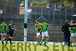 Fionán Clifford and Daniel Daly South Kerry celebrate after defeating Kerins O'Rahillys in the Kerry Senior Football Championship Semi Final at Fitzgerald Stadium on Saturday.