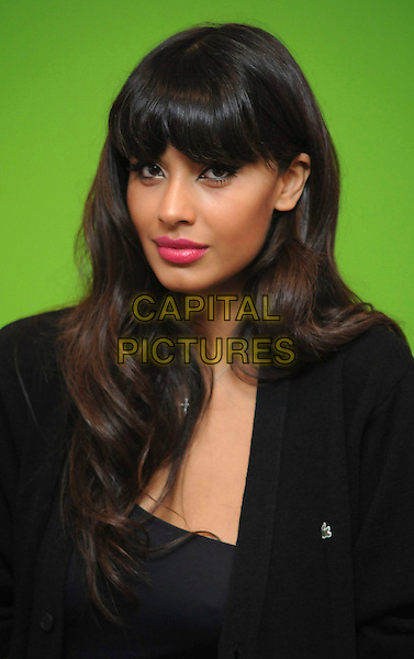 JAMEELA JAMIL.Promotion of online Lacoste game at Lacoste shop in Westfield shopping centre, London, England..November 8th, 2010 .headshot portrait black fringe bangs hair pink lipstick  .CAP/WIZ.© Wizard/Capital Pictures.