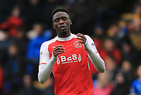 Devante Cole of Fleetwood Town upset  with his missed opportunity to score during the Sky Bet League 1 match between Shrewsbury Town and Fleetwood Town at Greenhous Meadow, Shrewsbury, England on 21 October 2017. Photo by Leila Coker / PRiME Media Images.