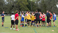 Orlando, FL - Friday Oct. 14, 2016:   Candidates listen to lead instructor Vanni Sartini during a US Soccer Coaching Clinic in Orlando, Florida.