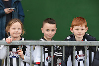 Young Grimsby Town fans pictured following the FA Trophy Semi Final first leg match between Bognor Regis and Grimsby Town at Nyewood Lane, Bognor Regis, England on 12 March 2016. Photo by Paul Paxford/PRiME Media Images.