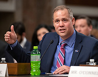 Jim Bridenstine, Administrator, National Aeronautics and Space Administration, testifies before the United States Senate Committee on Commerce, Science, and Transportation on &quot;The New Space Race: Ensuring U.S. Global Leadership on the Final Frontier&quot; on Capitol Hill in Washington, DC on Wednesday, March 13, 2019.<br /> Credit: Ron Sachs / CNP/AdMedia