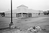 """Flint, Michigan<br /> USA<br /> March 25, 2009<br /> <br /> An abandoned Rite Aid in Flint, which is known for being the birthplace of the General Motors Corporation, and the Flint Sit-Down Strike of 1936-37 that played a vital role in the formation of the United Auto Workers. It has also become a symbol of the decline in the auto industry. Flint area native Michael Moore's 1989 documentary film """"Roger & Me"""" deals with the impact that the closure of several General Motors manufacturing plants in the late 1980s had on Flint's people."""