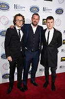 LONDON, UK. September 22, 2018: Ted Reilly, Danny Dyer & Danny-Boy Hatchard at the Paul Strank Charitable Trust Annual Gala at the Bank of England Club, London.<br /> Picture: Steve Vas/Featureflash