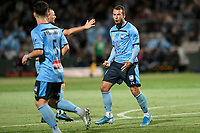 17th November 2019; Jubilee Oval, Sydney, New South Wales, Australia; A League Football, Sydney Football Club versus Melbourne Victory; Adam le Fondre of Sydney celebrates after scoring to make it 1-1 in the 61st minute