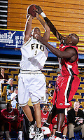 Florida International University Golden Panthers (9-12, 4-7 Sun Belt Conference) versus Arkansas State University (11-11, 6-4 Sun Belt Conference) at Pharmed Arena, Miami, Florida on Saturday, January 27, 2007.  The Golden Panthers defeated ASU, 80-61...Sophomore forward Alex Galindo (2)