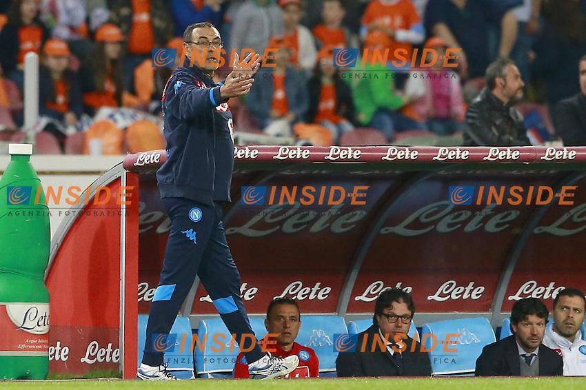 Maurizio Sarri Napoli,  <br /> Napoli 19-04-2016 Stadio San Paolo<br /> Football Calcio Serie A 2015/2016 Napoli - Bologna<br /> Foto Cesare Purini / Insidefoto