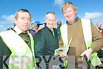 They know their stuff: Sylvie Carroll and Michael O'Sullivan of the North Kerry Harriers chat with horse trainer Tom Cooper at Sunday's North Kerry Harriers Point to Point in Ballybunion.