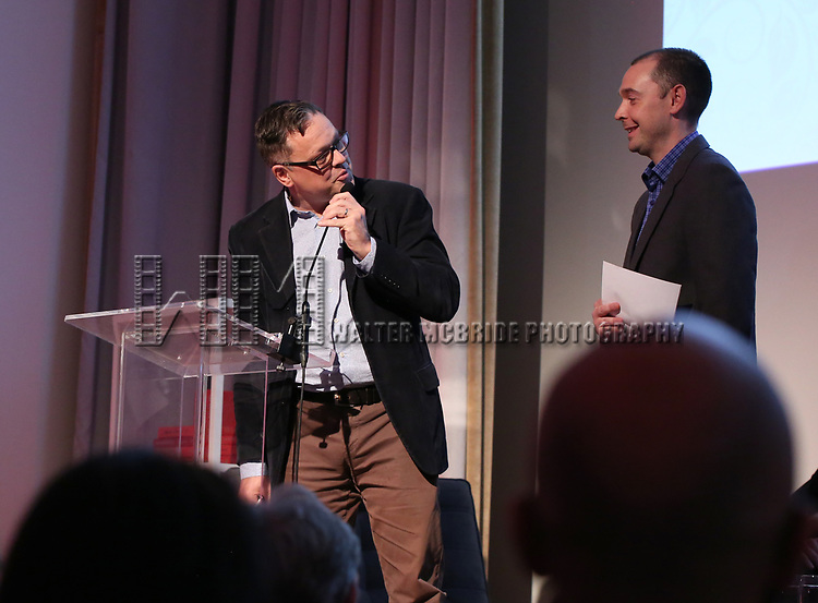 Peter McCambridge and Eric DuPont during the Scotiabank Giller Prize 25 Finalists: Between The Pages at the New Museum on November 7, 2018 in New York City.