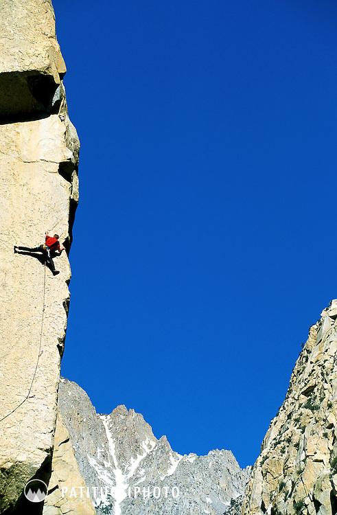 Climbing in Pine Creek Canyon outside of Bishop, California