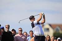Harry Hall (GB&I) on the 2nd tee during Day 2 Singles at the Walker Cup, Royal Liverpool Golf CLub, Hoylake, Cheshire, England. 08/09/2019.<br /> Picture Thos Caffrey / Golffile.ie<br /> <br /> All photo usage must carry mandatory copyright credit (© Golffile | Thos Caffrey)