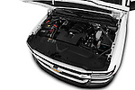 Car Stock 2018 Chevrolet Silverado 1500 1WT Regular Cab Long Box 3 Door Pick-up Engine  high angle detail view