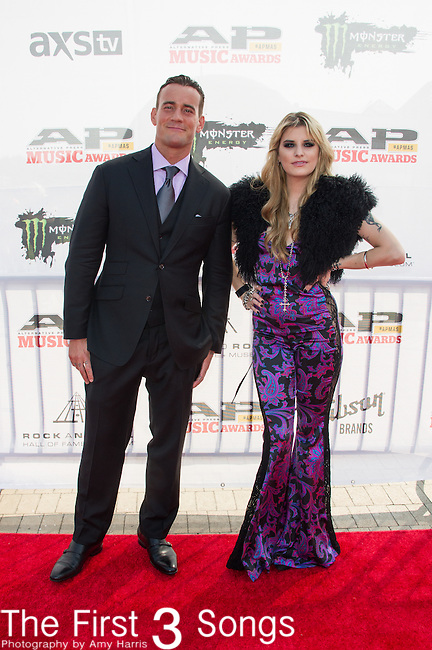 CM Punk and Juliet Simms attend the 2014 AP Music Awards at the Rock And Roll Hall Of Fame and Museum at North Coast Harbor in Cleveland, Ohio.