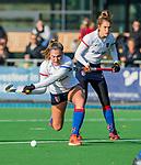 AMSTELVEEN - Pien Dicke (SCHC)  tijdens de competitie hoofdklasse hockeywedstrijd dames, Pinoke-SCHC (1-8) . COPYRIGHT KOEN SUYK
