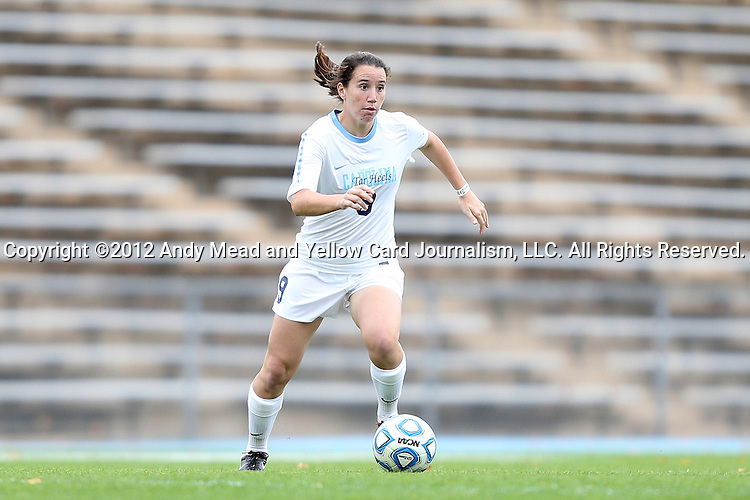 28 October 2012: UNC's Kat Nigro. The University of North Carolina Tar Heels played the University of Virginia Cavaliers at Fetzer Field in Chapel Hill, North Carolina in a 2012 NCAA Division I Women's Soccer game. Virginia defeated UNC 1-0 in their Atlantic Coast Conference quarterfinal match.