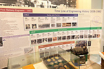 Display about railway engineering history with permission of Chippenham museum, Wiltshire, England, UK 1838-1982