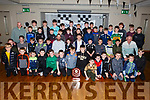 David Clifford (Kerry senior player) seated with the Ardfert GAA juvenile's at their awards evening in the Ballyroe Heights Hotel on Friday evening.