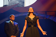 "August 26, 2011 (Washington, DC)   Hill Harper and Victoria Rowell perform a scene if the  ""M.L.K.: A Monumental Life"" tribute to Martin Luther King Jr. at the D.A.R. Constitution Hall in Washington.  Rowell is an Emmy-nominated actress, who co-starred in the hit prime time television series ""Diagnosis Murder"" (1993) for eight seasons while simultaneously continuing her role as ""Drucilla Winters"" on the daytime drama, ""The Young and the Restless"" (1973). The tribute, presented by Alpha Phi Alpha Fraternity, was a theatrical and musical celebration honoring Dr. King.  (Photo by Don Baxter/Media Images International)"