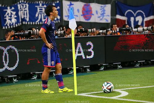 Shinji Okazaki (JPN), <br /> SEPTEMBER 5, 2014 - Football / Soccer : <br /> KIRIN Challenge Cup 2014 <br /> match between Japan - Uruguay <br /> at Sapporo Dome, Hokkaido, Japan. <br />  (Photo by Yohei Osada/AFLO SPORT) [1156]